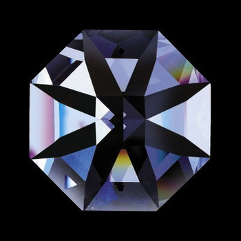18mm. Strass Swarovski Crystal Lilly Cut Octagonal Jewel with 2 Pin Holes