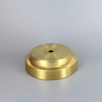3-1/2in. Seat Spun Cove Base Unfinished Brass