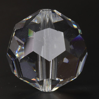 20mm. (13/16in) Swarovski Faceted Bead Crystal Ball with Slip Through Hole