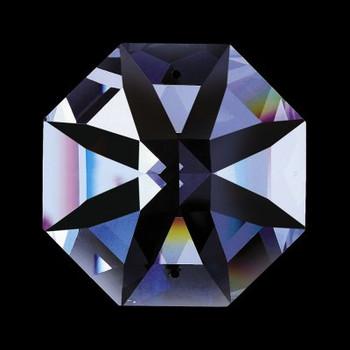 32mm. Strass Swarovski Crystal Lilly Cut Octagonal Jewel with 2 Pin Holes