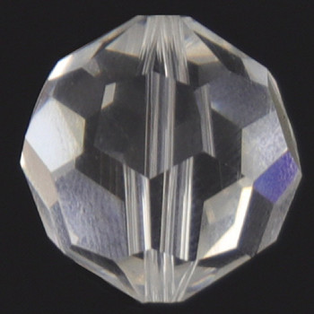 18mm. (11/16in) Swarovski Faceted Bead Crystal Ball with Slip Through Hole