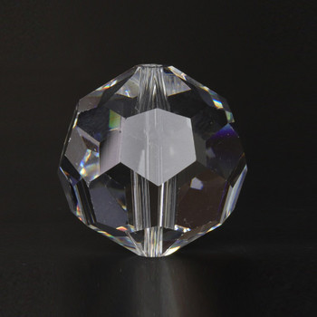 14mm. (9/16in) Swarovski Faceted Bead Crystal Ball with Slip Through Hole