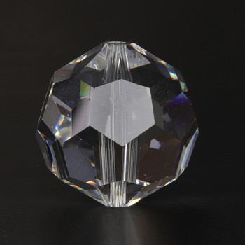16mm. (5/8in) Swarovski Faceted Bead Crystal Ball with Slip Through Hole