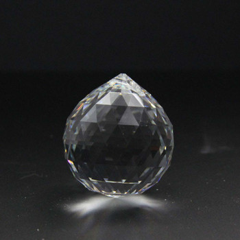 40mm. Strass Cut Crystal Ball with Pin Hole