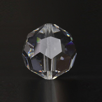 12mm. (1/2in) Swarovski Faceted Bead Crystal Ball with Slip Through Hole