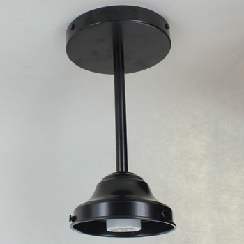 4in. SHADE HOLDER FIXTURE WITH 18IN. STEM BLACK