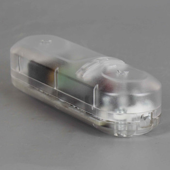 Universal Push Button In-Line Dimmer with LED Power Indicator - Clear