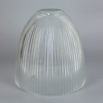 6in Diameter X 6in Height Clear Ribbed Dome Shade with 1-5/8in Hole.