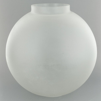10in. Open Plain Frosted Ball with 4in. Bottom Fitter