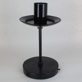 4in. Powder Coated Black. Neckless E-26 Edison Glass Fixture with 6in.Stem. Fully Assembled