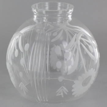 Clear Cut Decorated Ball Shade with 2-1/4in. Neck