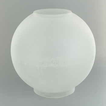 8in. Open Plain Frosted Ball with 4in. Bottom Fitter