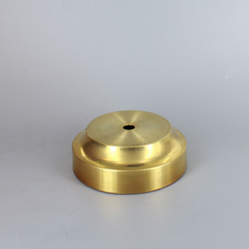 3in. Seat Spun Cove Base Unfinished Brass