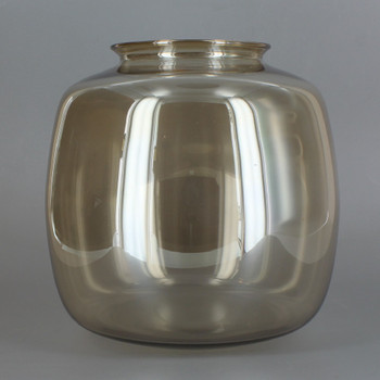 3-1/4in Fitter Smoked Glass Squat Ball Shade