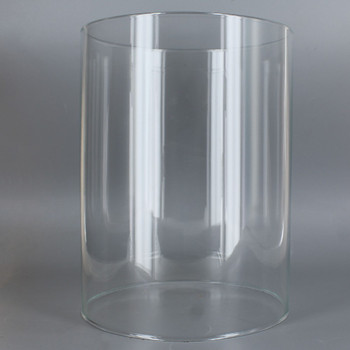 4in Diameter X 8in Height Clear Glass Cylinder