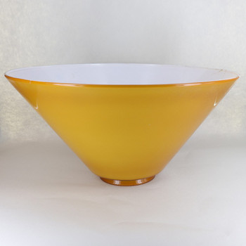 14in. French Cased Amber Cone Shade with 4in. Neck