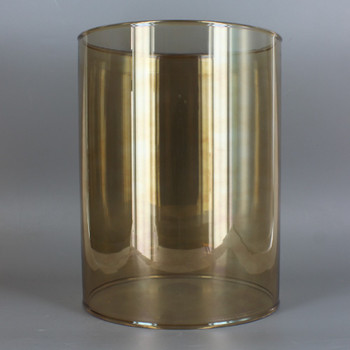 4in Diameter X 8in Height Smoked Finish Clear Glass Cylinder