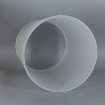 6in Diameter X 8in Height Acid Etched Frosted Glass Cylinder