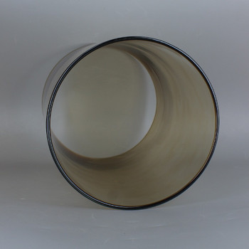 6in Diameter X 8in Height Smoked Finish Clear Glass Cylinder