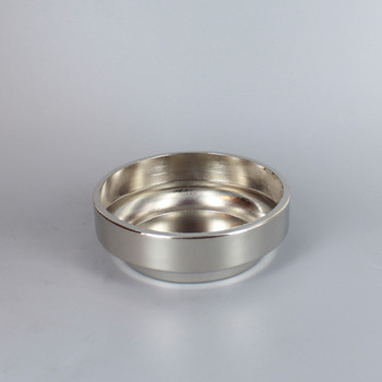 3-1/2in. SEAT POLISHED NICKEL FINISH STEEL COVE BASE