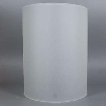 6in Diameter X 10in Height Acid Etched Frosted Glass Cylinder