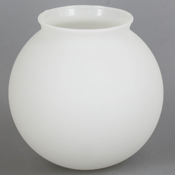 5in. Hand Blown Glass Ball with 3-1/4in Neck - Satin Matte Opal