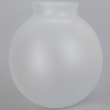 4-5/16in. Diameter Frosted Glass Ball with 2-1/4in. Neck