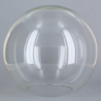 8in Hand Blown Neckless Glass Ball with 4in. Neckless Opening - Clear - MADE in USA.