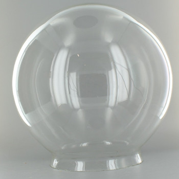 14in. Hand Blown Clear Glass Ball with 6in. Neck