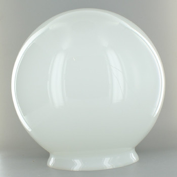 16in. Hand Blown Opal Sandblasted (Frosted) Matte Glass Ball with 6in. Neck - USA