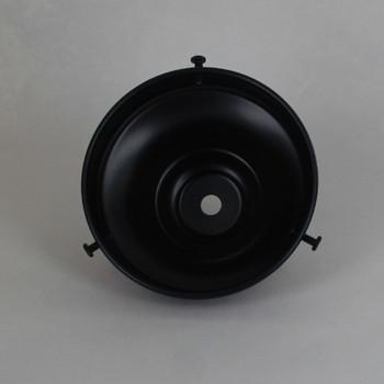 4in. Black Powdercoated Steel Deep Shade Holder