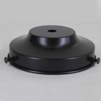 4in Flat Powdercoated Black Finish Flat Shade Holder