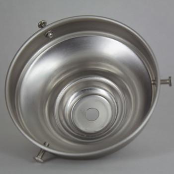 4in. Brushed/Satin Nickel Steel Deep Shade Holder