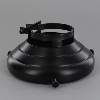 3-1/4in Fitter Black Powder Coated Finish Clamp On Holder for Porcelain Socket with Lip
