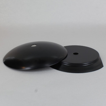 4in Steel Neckless Ball Holder Set with Cover and Insert - Black Finish