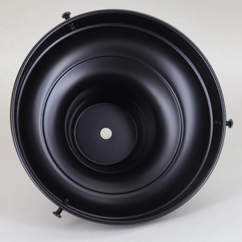 6in. Black Powdercoated Steel Deep Shade Holder with 1/8ips. Slip Through Center Hole