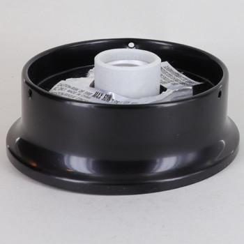 4in. Flush Black FInish Single Socket Holder