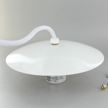5-1/4in. Neckless Ball Fixture Kit Prewired with 8ft. 18/3 SVT White Wire