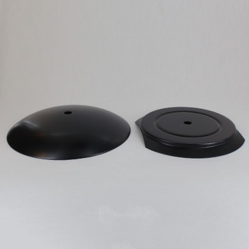 5-1/4in Steel Neckless Ball Holder Set with Cover and Insert - Black Finish