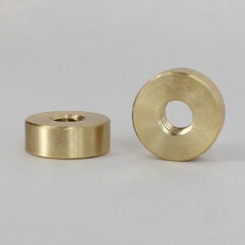 5/8in W X 15/64in H - 1/4-20 UNC Female Threaded Plain Round Nut