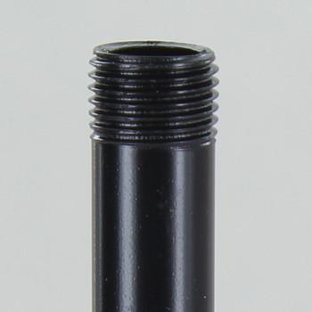 10in Long X 1/8ips (3/8in OD) Male Threaded Black Powder Coated Steel Pipe