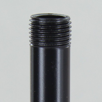 6in Long X 1/8ips (3/8in OD) Male Threaded Black Powder Coated Steel Pipe