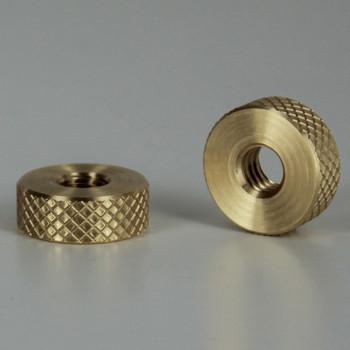 5/8in W X 15/64in H - 1/4-20 UNC Diamond Knurled Round Nut