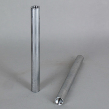 12in. Unfinished Aluminum Pipe with 1/8ips. Female Threaded Ends