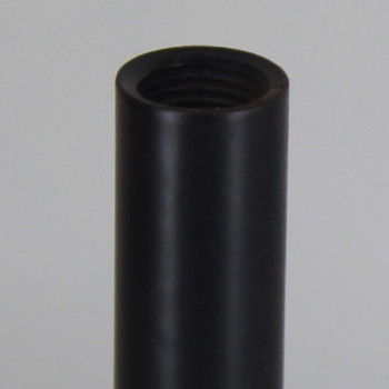 6in. Black Powder Coated Steel Pipe with 1/8ips. Female Thread