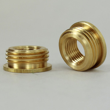 1/8ips. Female X 3/8ips. Male Thread Unfinished Brass Reducer with Shoulder