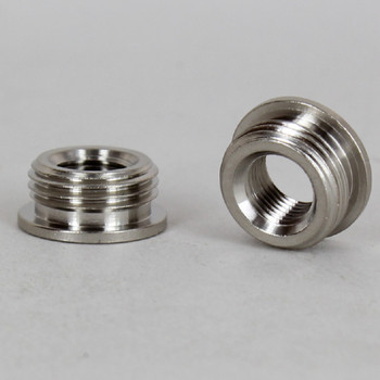 1/8ips. Female X 3/8ips. Male Thread Polished Nickel Finish Reducer with Shoulder
