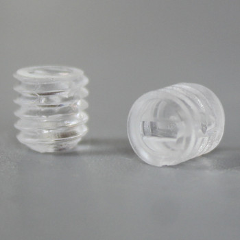 6 MM  Slotted Set Screw Clear
