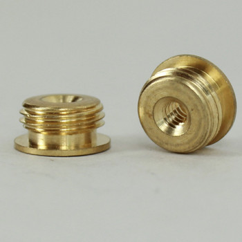 6/32 Female X 1/8ips. Male Thread Unfinished Brass Reducer with Shoulder