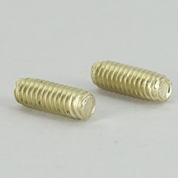 1/2in Long X 8/32 Threaded Unfinished Brass Stud